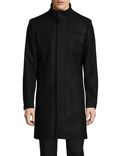 Tiger Of Sweden Egal Wool-Blend Overcoat-BLACK-EU 50/US 40