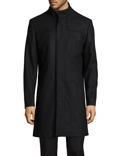 Tiger Of Sweden Egal Wool-Blend Overcoat-CHARCOAL-EU 50/US 40