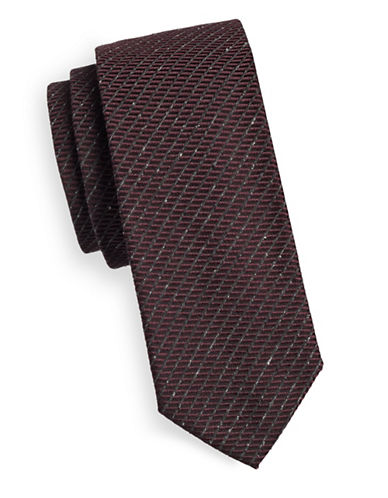Tiger Of Sweden Rib Stitch Silk-Wool Tie-RED-One Size