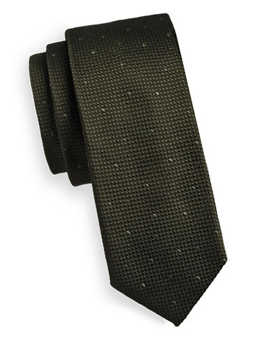 Tiger Of Sweden Dobby Dot Silk Tie-GREEN-One Size