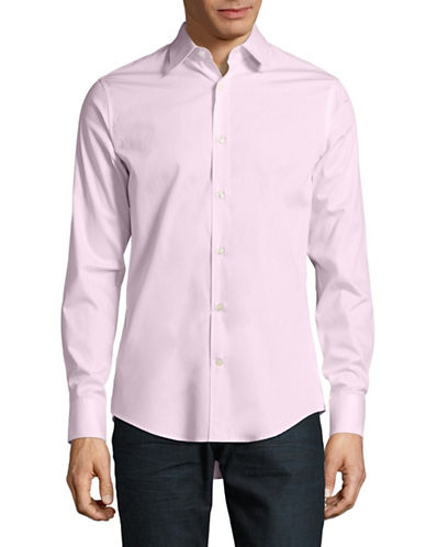 Tiger Of Sweden Herringbone Weave Shirt-PINK-EU 42/US 16.5