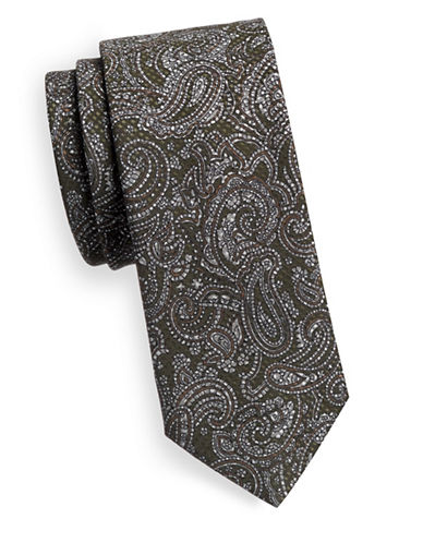 Tiger Of Sweden Paisley Silk Tie-GREY-One Size