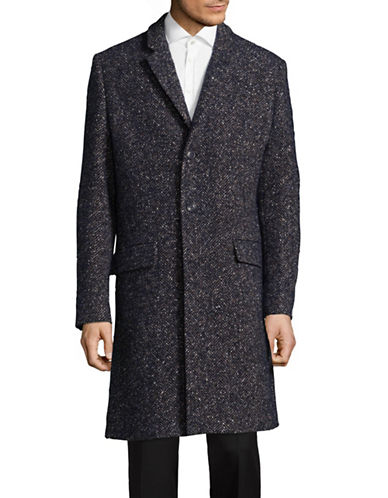 Tiger Of Sweden Herringbone Overcoat-BLUE-EU 48/US 38