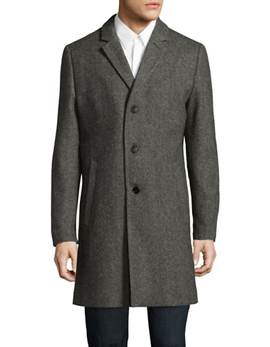 Tiger Of Sweden Wool-Blend Overcoat-BROWN-EU 50/US 40