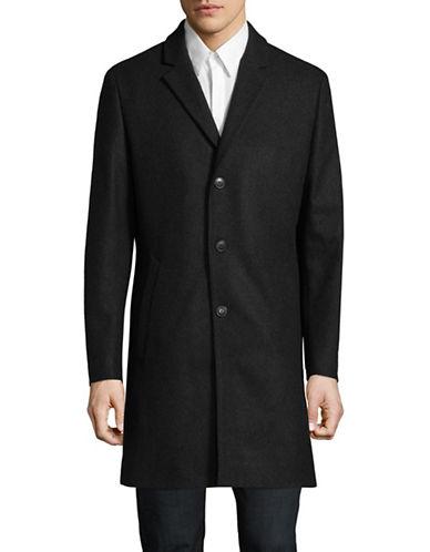 Tiger Of Sweden Wool-Blend Overcoat-CHARCOAL-EU 48/US 38