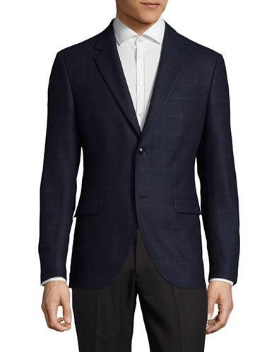 Tiger Of Sweden Wool-Blend Windowpane Sport Jacket-BLUE-EU 46/US 36