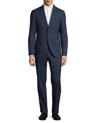 Tiger Of Sweden Lamonte Tonal Plaid Suit-BLUE-EU 48/US 38