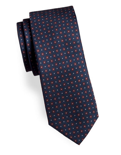 Tiger Of Sweden Buldan Geometric-Print Silk Tie-BLUE-One Size