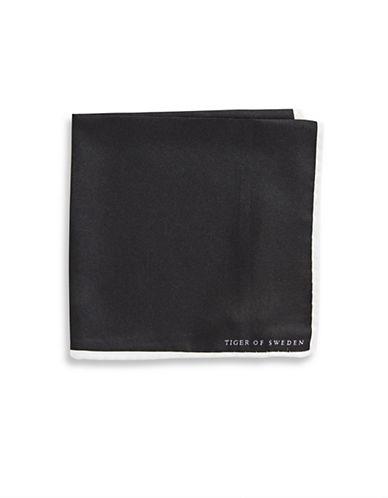 Tiger Of Sweden Portope Silk Handkerchief-BLACK-One Size