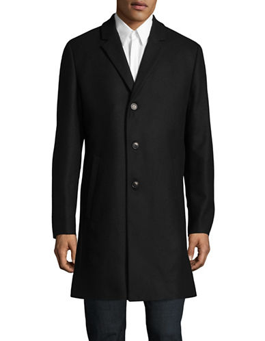 Tiger Of Sweden Wool-Blend Overcoat-BLACK-EU 54/US 44