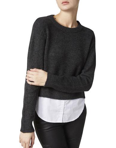 Noisy May Kuni Knit Cropped Sweater-DARK GREY-Small 88800066_DARK GREY_Small