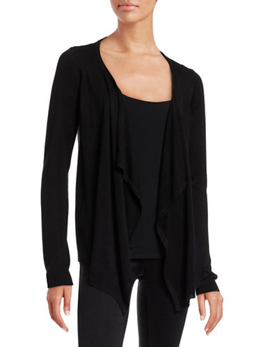Vero Moda Meghan Draped Cardigan-BLACK-Small 88515617_BLACK_Small