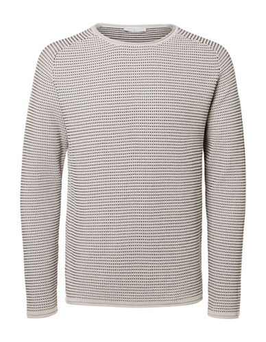 Selected Homme Baine Rolled Trim Sweater-GREY-X-Large 88678549_GREY_X-Large