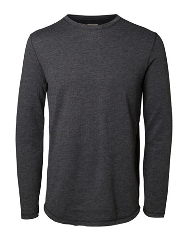 Selected Homme Ludvig Long Sleeve T-Shirt-GREY-X-Large 88855363_GREY_X-Large