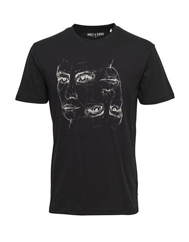 Only And Sons onsAXEL Fitted Tee-BLACK-Small 88774324_BLACK_Small