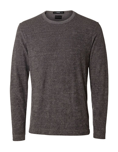 Selected Homme Long Sleeve Crew Neck Sweater-GREY-X-Large 88728473_GREY_X-Large