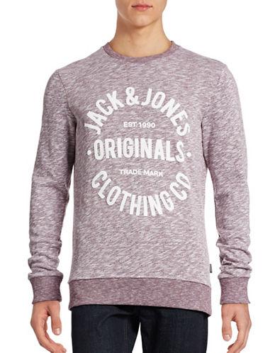 Jack & Jones Clemens Graphic Sweatshirt-RED-XX-Large