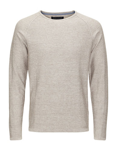Jack And Jones Premium Trevor Noos Knit Tee-BEIGE-X-Large