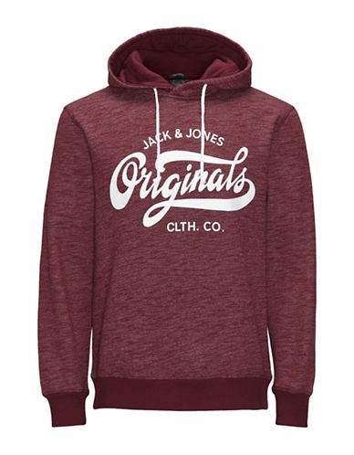 Jack & Jones Cotton Printed Hoodie-RED-Medium 88605205_RED_Medium