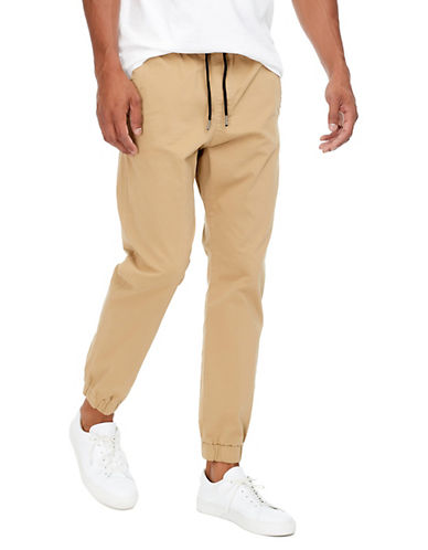 Jack & Jones Elasticized Chino Pants-BEIGE-33X32