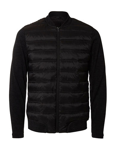 Selected Homme Fleece Bomber Jacket-BLACK-Large 88728482_BLACK_Large