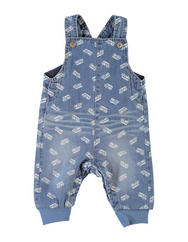 Name It Denim Truck Print Overalls-BLUE-6 Months