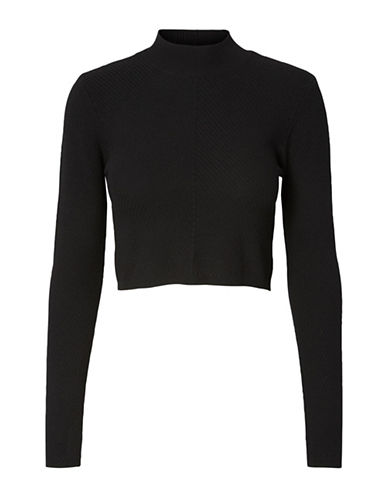 Noisy May Valeur Cropped Knit Top-BLACK-Large 88863451_BLACK_Large