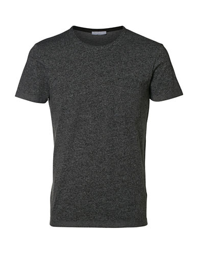 Selected Homme Shdholden Short Sleeves O-Neck Tee-GREY-Small 88855486_GREY_Small