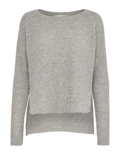 Only onlNEVADA Ribbed Pullover-WHITE/GREY-Medium 88748833_WHITE/GREY_Medium