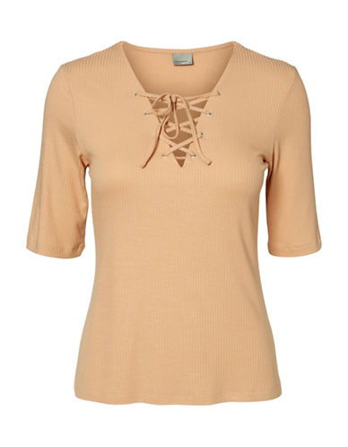 Vero Moda Miris Lace-Up Top-PINK-Small 88911539_PINK_Small