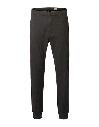 Selected Homme Magnus Slim-Fit Trousers-GREY-34X32