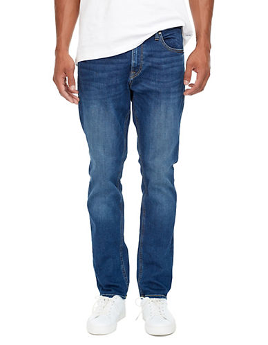 Jack & Jones Five-Pocket Slim-Fit Jeans-BLUE-34X32