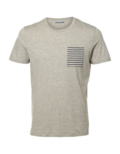 Selected Homme Irwin Striped Pocket T-Shirt-GREY-XX-Large 89113174_GREY_XX-Large