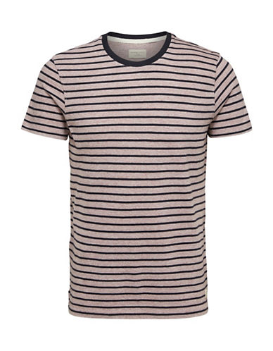 Selected Homme Classic Striped T-Shirt-PINK-X-Large