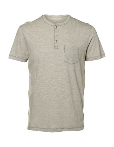Selected Homme Shhharry Henley Neck T-Shirt-NATURAL-X-Large