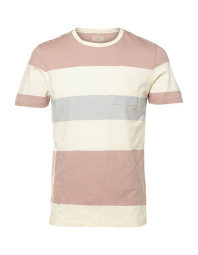 Selected Homme Shhrune Striped Pocket T-Shirt-RED-Small 88992116_RED_Small