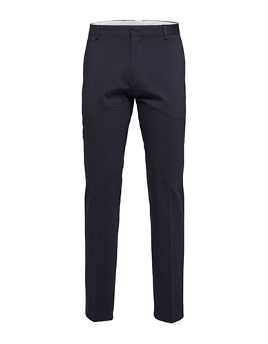 Selected Homme Buffalo Crinkle Trousers-BLUE-34