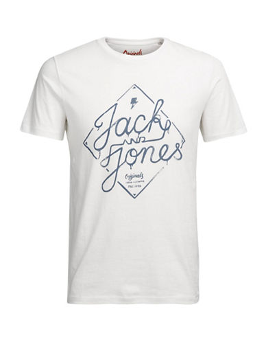 Jack & Jones Cotton Logo Graphic Tee-WHITE-Medium 89281317_WHITE_Medium