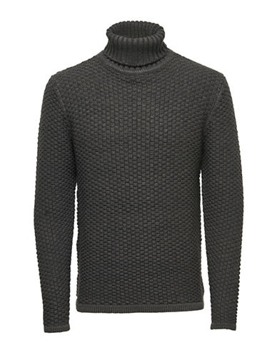 Only And Sons onsDOC Knit Turtleneck Top-DARK GREY-XX-Large 88774398_DARK GREY_XX-Large
