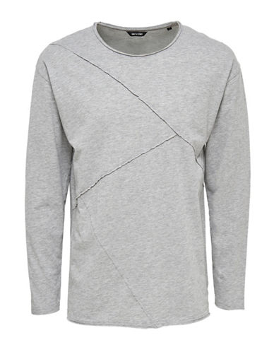 Only And Sons onsTIMOTHY Drop Shoulder Long Sleeve T-Shirt-LIGHT GREY-XX-Large 88774413_LIGHT GREY_XX-Large