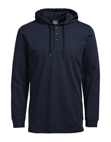 Jack & Jones Cotton Long Sleeve Hoodie-BLUE-Small 88768627_BLUE_Small