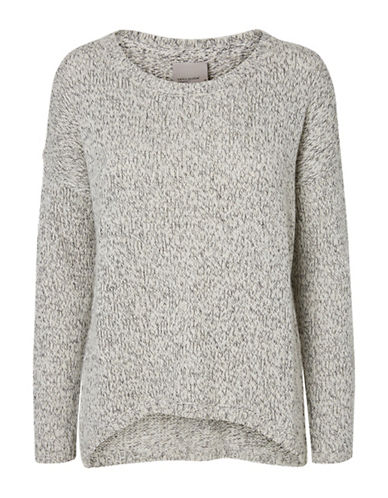 Vero Moda Hi-Lo Knit Sweater-GREY-Small 88604271_GREY_Small