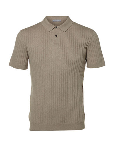 Selected Homme Coy Knitted Polo-BROWN-X-Large