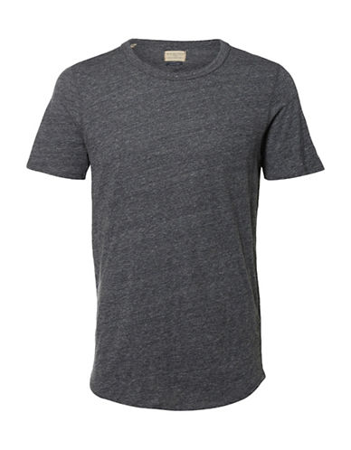 Selected Homme Shnowen Crew Neck T-Shirt-DARK GREY-Large 88951371_DARK GREY_Large