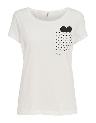 Only onlFOXY Hearts T-Shirt-GREY-Small 88964829_GREY_Small