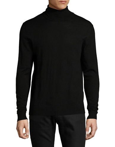 Jack And Jones Premium Merino Wool Turtleneck-BLACK-Medium
