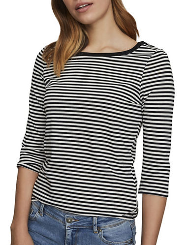 Vero Moda Marley Stripe Top-WHITE-Small