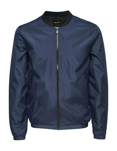 Only And Sons Bomber Jacket-BLUE-Large 88915272_BLUE_Large