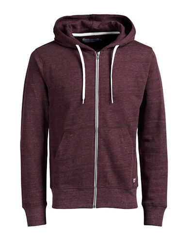 Jack & Jones Regular Fit Zip-Up Hoodie-RED-Small 88830980_RED_Small