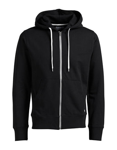 Jack & Jones Regular Fit Zip-Up Hoodie-BLACK-X-Large 88830968_BLACK_X-Large